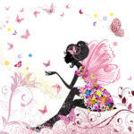 Flower Fairy in the environment of butterflies © Ksym - Fotolia.com